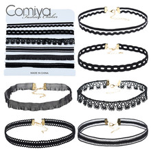 Comiya fashion designed gotic necklace for women handmade chokers necklaces collier femme boho jewelry online shopping indian
