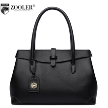 ZOOLER Women Handbags Small Big 2 Size Genuine Leather Cover Open Shoulder Bags Female Simple Pure Party Bolsas Femina
