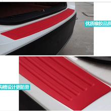 Car trunk bumper trim rear guard plate modified protective strip For Ford Focus Fusion Escort Kuga Ecosport Fiesta Falcon EDGE