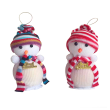 1* Cute Baby Kids Christmas Eve Decoration Snowman Candy Apple Bags Action Figures Toys for Children Xmas Party Funny Gifts