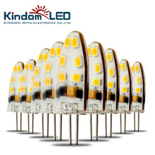 KINDOMLED 10pcs G4 LED Lamp 12 Volt LED Light Bulbs AC&DC 1W 3W LED Light 360 Beam Angle Lights Replace Halogen G4 Chandelier
