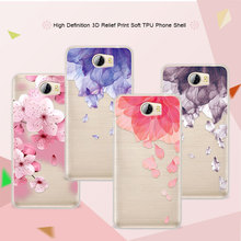 3D Relief Phone Case For Huawei Y5 II 5.0 inch Floral Cartoon Peach Lace Soft TPU Back Cover For Huawei Y5 ii Y5 2 Coque Funda