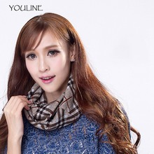 YOULINE Unisex Winter Cotton Scarves Plaid Wool Collar scarf Warmer Woman Crochet Ring Scarf Face Mask Beanie Hats 3in1 S17495(China)