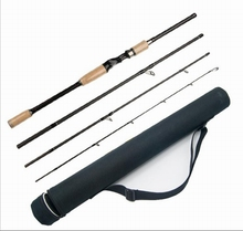 New 2.1/2.4/2.7M  4 Sections Carbon Spinning Fishing Rod Fishing Combo Fast Action Lure Casting Fishing Rod  Fishing Set