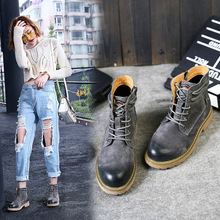 2017 New Autumn Fashion Boots Women Shoes Cross-tied Lady Genuine Leather Boots White Brand Martin Boots Breathable Pigskin Soft