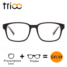 TRIOO Square Prescription Glasses Men Reading Eyeglasses Computer Spectacles Myopia Eyewear Clear Optical Eyeglass Oculos Gafas(China)