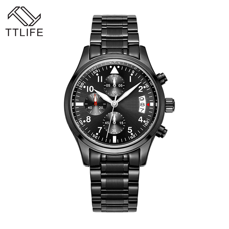 TOP Brand TTLIFE Waterproof relogio masculino Three Eyes Watches Quartz Watch Luxury Men Watch Fashion Sports Wristwatch Clock<br><br>Aliexpress