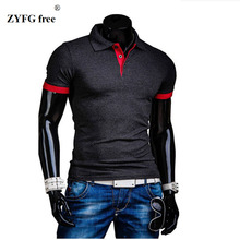 6 color optional 2017 new polo men hit the color short-sleeved basic models leisure POLO shirt short-sleeved polo men's shirts