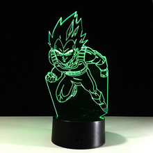 Dragon Ball 3D Table Lamp Cool Nightlights New Year Decoration Kids Lampade Children's Gifts Lighting LED Lampe Touch Lampen(China)