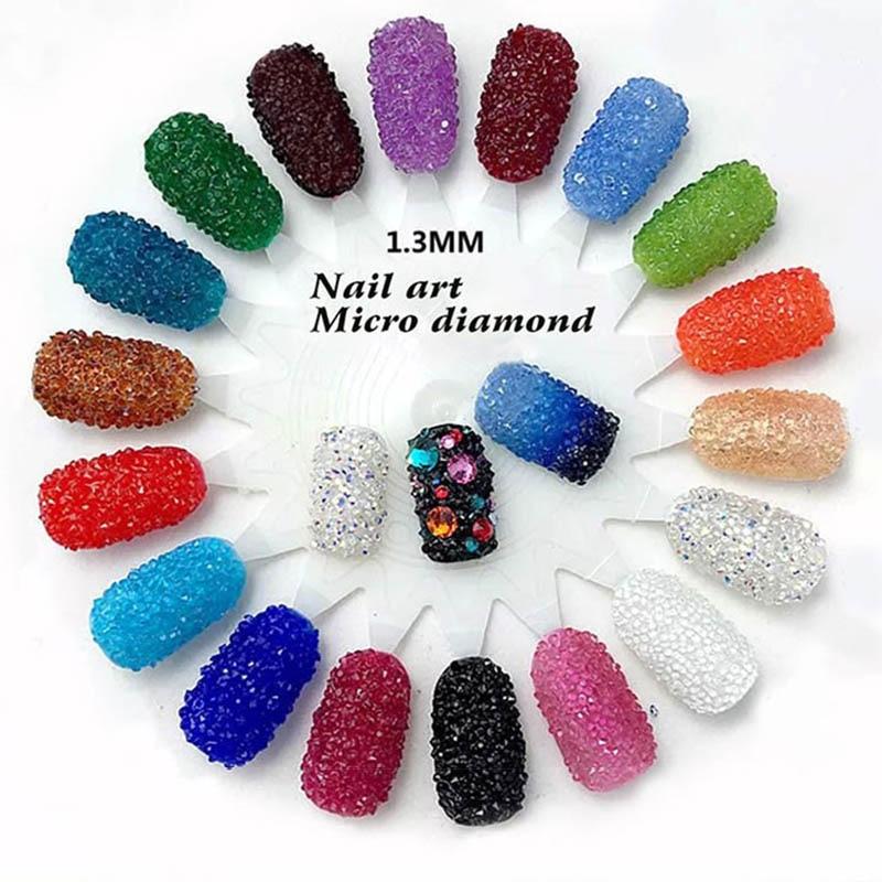 About 1440pcs/bag 1.3mm  nail art rhinestone Micro Rhinestones Mini nail art rhinestones Nail art Decorations rhinestones<br><br>Aliexpress