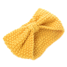 Women Lady Crochet Bow Knot Turban Knitted Head Wrap Winter Ear Warmer Headband Hair Band Hairband Accessories