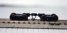 10pcs / lot 1/160 Model Train N scale wheel bogie Free Shipping