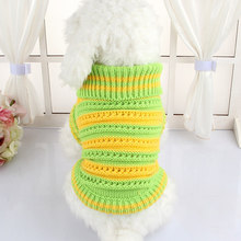 Dog Clothes Autumn And Winter Sweaters Cat Warm Knitting Shirt Pet Clothes For Yorkshire Teddy Chihuahua Dogs Puppy Coat Jacket(China)