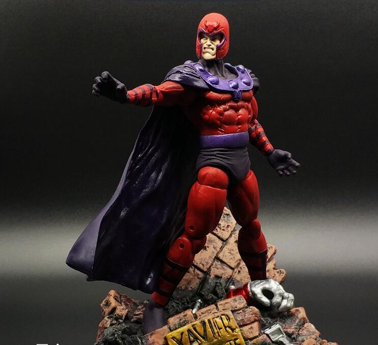 X-Men Action Figure Magneto Midlife Max Eisenhardt Collection Model Toy 180mm PVC X Men X-Men Magneto<br>