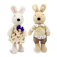 le sucre 45cm Wearing dress kawaii Rabbit plush toys bunny Stuffed dolls kids toys Christmas gifts,clothes can be take off(China)