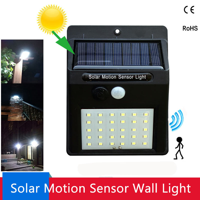 LED Solar Light PIR Motion Sensor Wall Light 20/30 LEDs Outdoor Waterproof Energy Saving Street Garden Security Solar Lamp