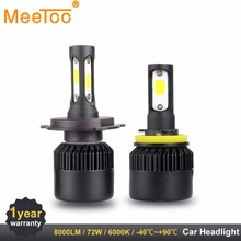 H4 H7 LED T1 Auto Lamps Headlight HB3 HB4 H11 H1 9006 9005 LED Light Bulbs for Cars 8000LM 72W Replace for Xenon Halogen