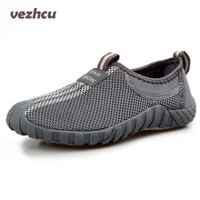 VZEHCU Fashion Men Shoes Casual Loafers Classical Mesh Shoes Breathable Flats Moccasins Men Platform Shoes Plus Size 39-44 cd72