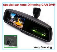 "Auto Dimming Original Bracket Car elelctronic 4.3"" Special Vehicle DVR Reverse Mirror Monitor,Dual Lens Rear View Cameras DVR"