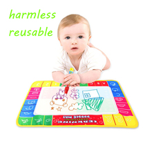 New Toys Water Drawing Mat 29 X 19 CM Board Painting and Writing Doodle With Magic Pen Non-toxic Drawing Board for Baby Kids(China)