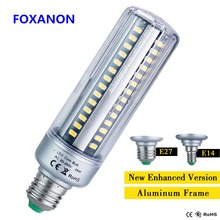 Foxanon Full Watt 25W 20W LED Lamp Corn Bulb E27 E14 5W 7W 9W 15W AC85-265V No Flicker 5736 Lamps Long Lifespan Light Lighting