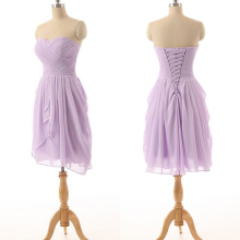 Purple Bridesmaid Dresses 2017 Chiffon Short Junior Cheap Wedding Party Dresses Lavender Bridesmaid Dress Vestido De Festa Curto