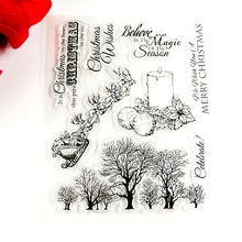 Merry Christmas Forest candle clear stamp Eco-friendly Transparent Stamp For DIY Scrapbooking/Card Making/ Decoration Supplies