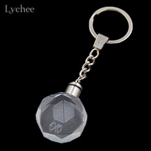 Lychee Hot KPOP EXO BTS Bigbang Wings Colourful LED Light Key Chain Key Ring Fans Support Jewelry for Men Women