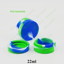 22ml Nonstick Wax Containers Silicone Box Round Shape Silicone Container for Dry Herb Atomizer Oil Wax E Cigarette accessories