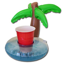 Coconut Palm Trees Party Supplies Inflatable Water Floating Cup Holder Drink Coke Stand Summer Swimming Bath Pool Can Party Toys