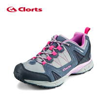 2016 Clorts Women Trekking Shoes 3D028C Cow Suede Outdoor Shoes Waterproof EVA Hiking Shoes Sport Sneaker for Women