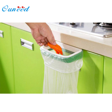 Ouneed Bag Hanging Kitchen Cupboard Door Back Style Stand Trash Garbage Bags Storage Holder Rack rangement
