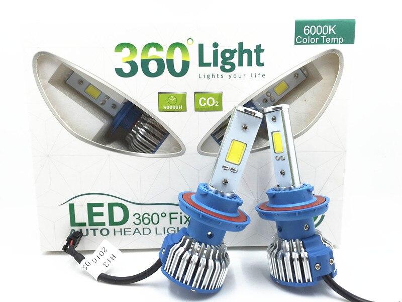 2XH16 H1 H3 H7 H11 9005 9006 880 9004 9007 H13 Car H4 LED head light kit 6000k Fog Head external light Signal Tail Parking Bulb<br><br>Aliexpress