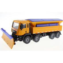 Alloy Diecast Snowplow truck model 1:50 Miniature Engineering scale snow removal vehicle Collection gift toy(China)