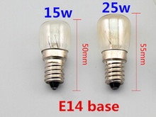 5pcs/lot E14 high temperature bulb 300 degrees Bakery light bulbs 15W 25W E14 Oven bulb High temperature bulb e14 220v 15w 25w