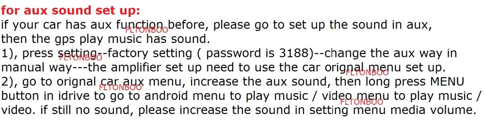 for aux sound