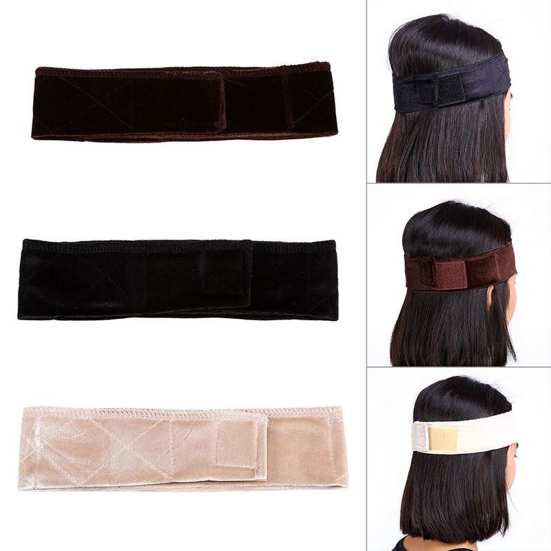 Maytir 3 Colors Adjustable Flexible Velvet Fabric Wig Grip Scarf Headband Head Band Fasten Wig For Styling Tool