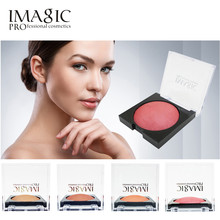 IMAGIC 4 Colos Professional Eye Shadow Blush Palette Face Makeup Baked Cheek Color Bronzer Blusher fashion Face Makeup cosmetic(China)