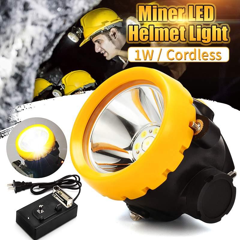 Miners Cordless Power LED Helmet Light Safety Head Cap Lamp Torch BK2000