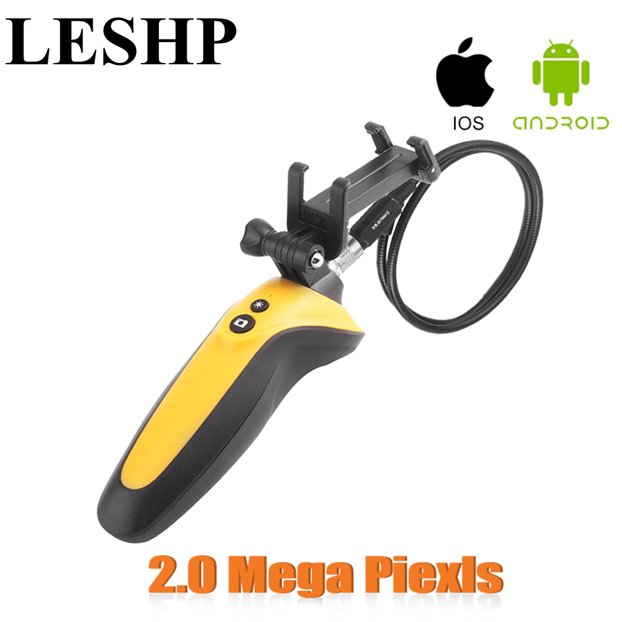 LESHP Industrial Video USB Endoscope Handheld 1m 720P Waterproof IP67 HT-668 2.4GHz Endoscope 2.0 Mega Pixels Camera Not battery<br>