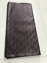 YANTEX-High Quality Deep Brown Color African Bazin Riche,10 Yards/Piece Guinea Brocade Getzner Fabric For Men Or Women Dress(China)