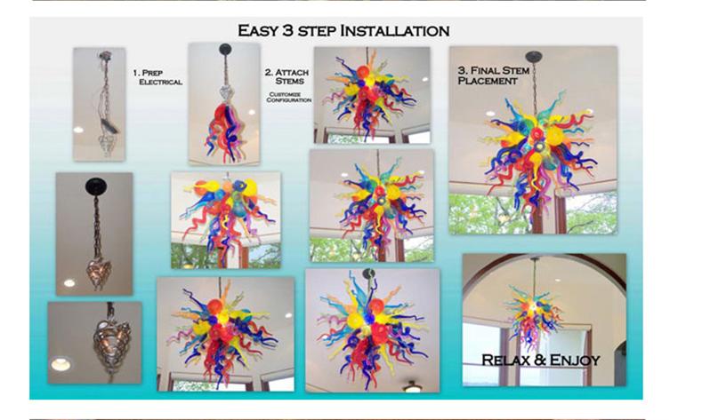 chandeleir installation instuction