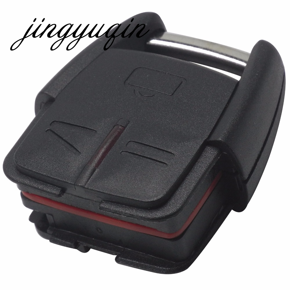 jingyuqin No Blade Car Key Case Shell for Vauxhall Opel Frontera Omega 3 Buttons No Chip Key Case Fob Remote Car Cover(China)