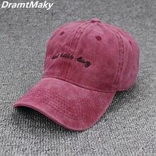 9cab37b930b Fashion Bad Hair Day Washed Baseball Cap Women Men Hat Cap Casual Snapback  Letter Dad Hat
