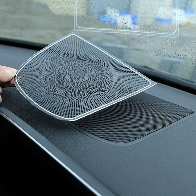 1pc Aluminum Burmester Design Dashboard Speaker CoverTrim Car Sticker For BMW X5 F15 X6 F16 Car Accessories 2014-UP<br>