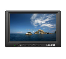 "LILLIPUT 669GL-70NP/C/T 7"" TFT LED 4-wire resistive touch panel HDMI monitor with AV VGA DVI HDMI car PC touch screen monitor"