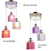 Free shipping ! Perfume bottle shaped  acryl 3 heads pendant light  dia 30cm ,height 100cm adjust  E27*3 bulbs colorful lamp