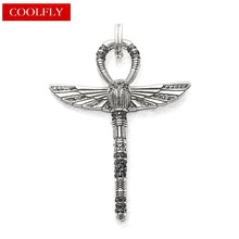 Thomas Style Egyptian Cross Of Life Ankh with Scarab Pendants Retro Amulets Angel Wings Glam Fashion Jewelry Gift For Women
