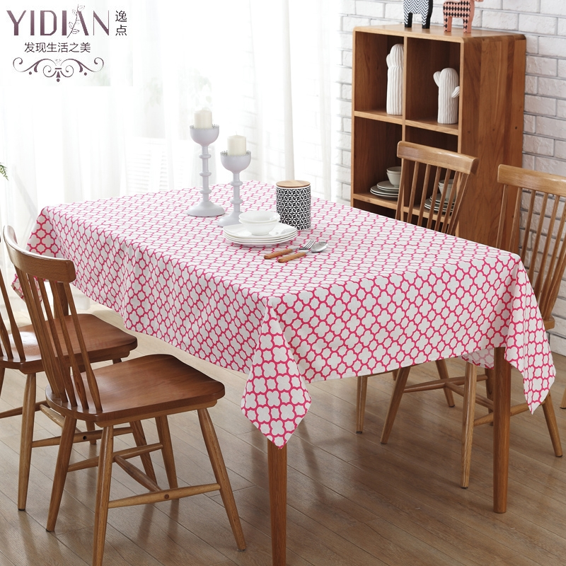 2017 Modern Simple Table Cloth red geometry pattern Table Cloth Rectangular Tablecloth Wedding Decoration manteles para mesa(China (Mainland))