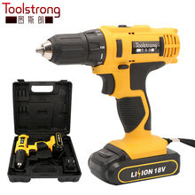 Toolstrong 18V DC New Design Household Li-ion Battery Cordless Drill Driver Power Tools parafusadeira Electric Drill TSL-1504Y(China)